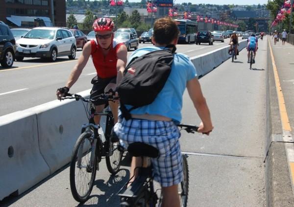Burrard bike lane - counterflow