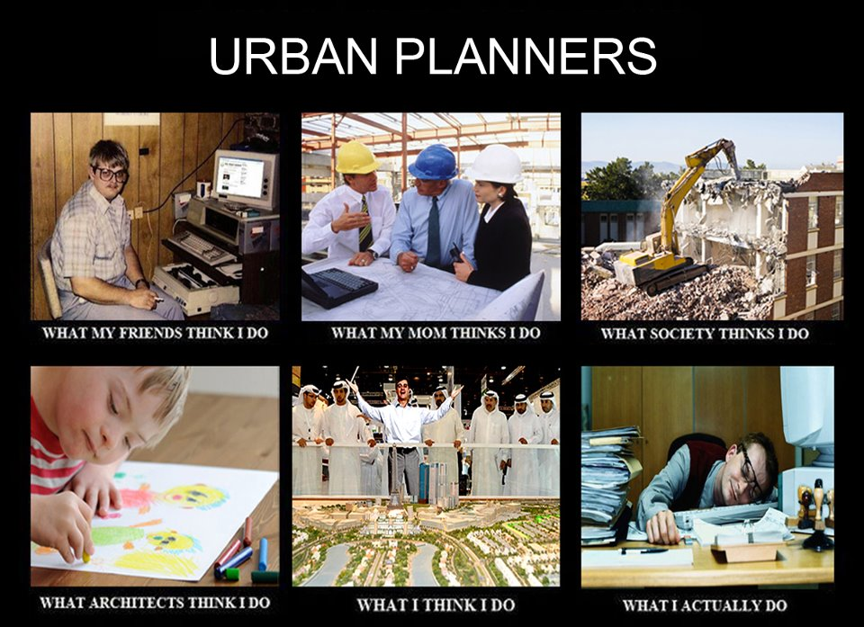 """the city planner and the planners As one might expect from the terms """"urban planner"""" and """"city planner,"""" the majority of planners work for municipalities, and that alone covers a lot of ground."""