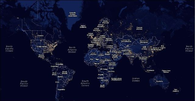 Us light pollution google map google maps mashup of global light pollution price tags freerunsca Gallery