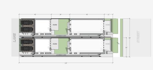 50' subdiv - rowhouse 25x122 - PLAN
