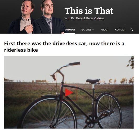 Driverless bike