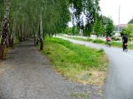 The Greenway splits here into two for a short distance, one gravel, one asphalt.