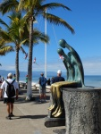 One of many public sculptures that attract people for photos and climbing opportunities.