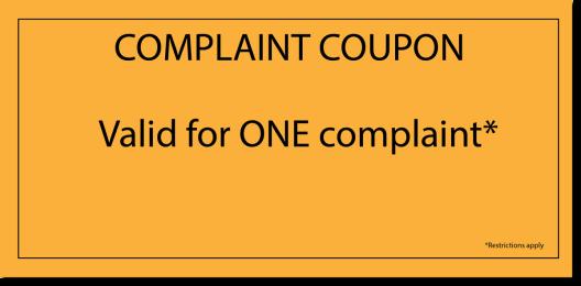 Complaint.Coupon